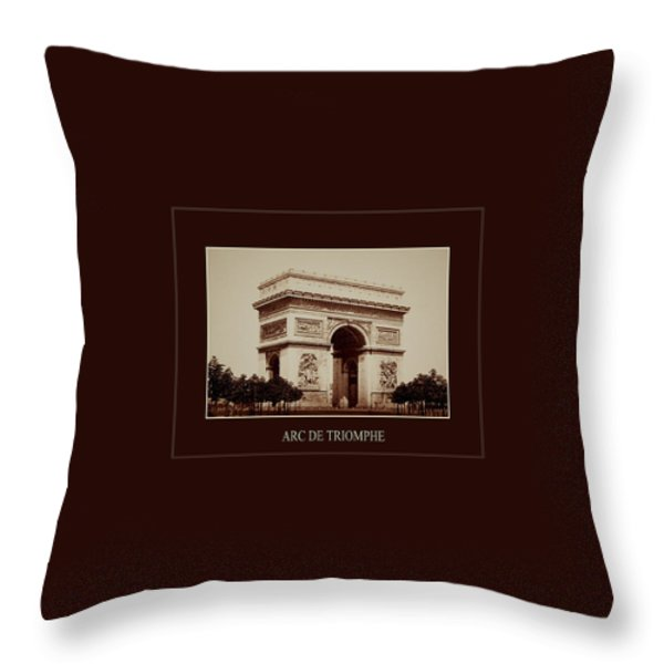 Paris Landmarks 2 Throw Pillow by Andrew Fare