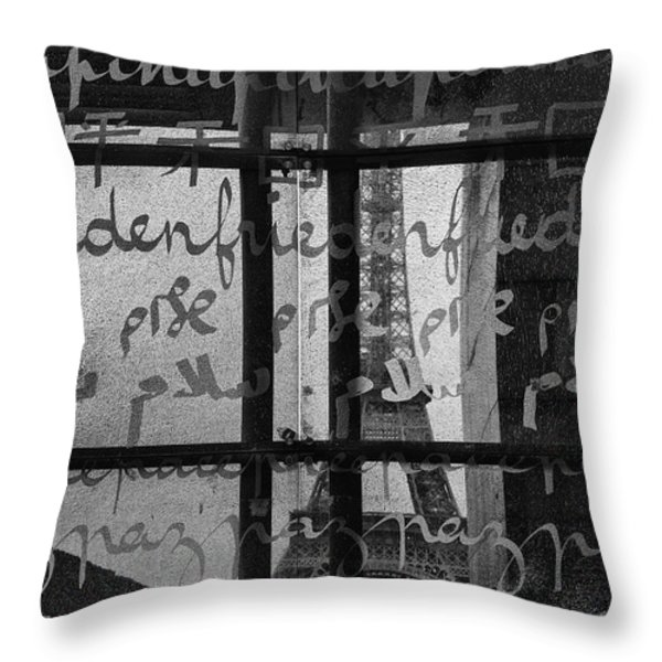 Paris Peace Wall Throw Pillow by Nomad Art And  Design