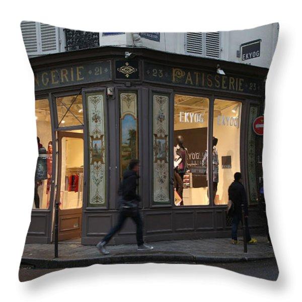 Parisian Evolution Throw Pillow by Randi Shenkman