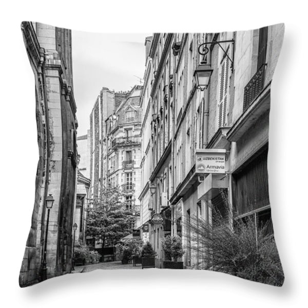 Parisian Street Throw Pillow by Nomad Art And  Design