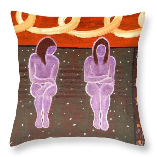 PARK BENCH Throw Pillow by Patrick J Murphy