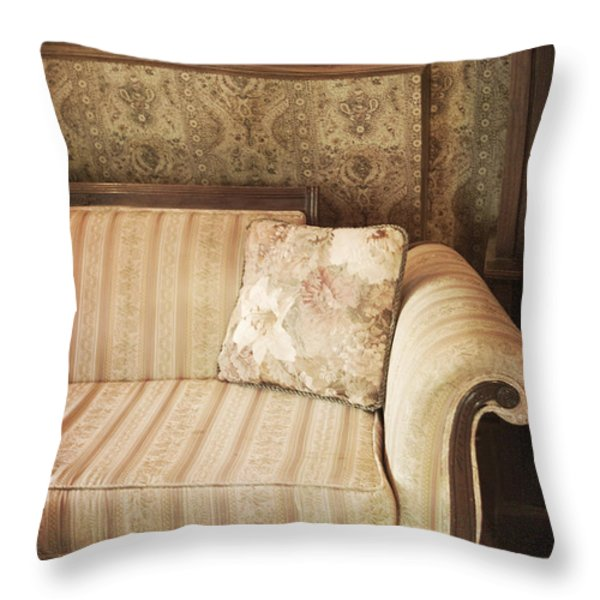 Parlor Seat Throw Pillow by Margie Hurwich