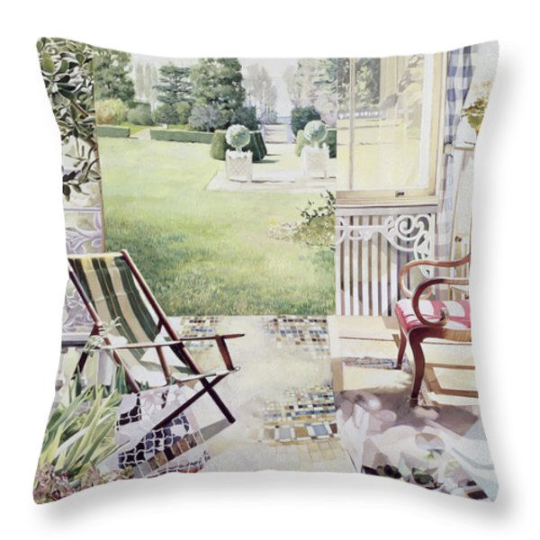 Partie De Campagne Throw Pillow by Jeremy Annett