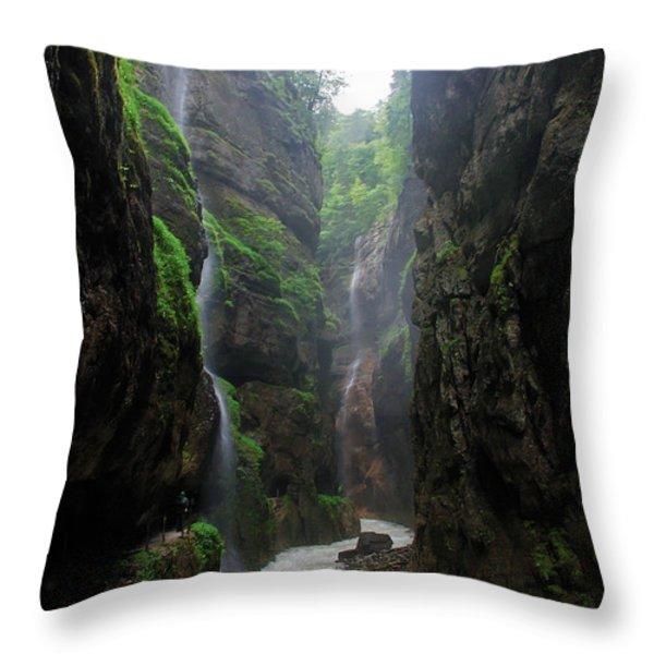 Partnachklamm Impression II Throw Pillow by Hannes Cmarits