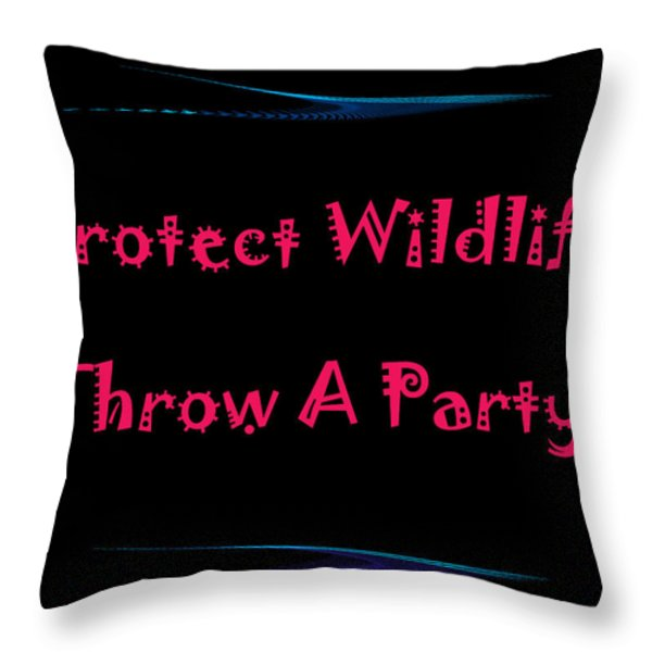 Party 4 Throw Pillow by Aimee L Maher Photography and Art