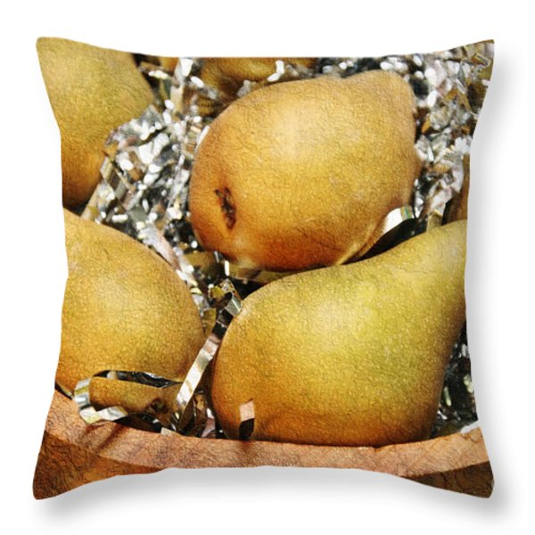 Party Pears Throw Pillow by Andee Design