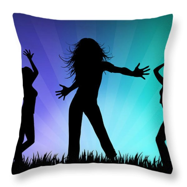Party People Throw Pillow by Aged Pixel