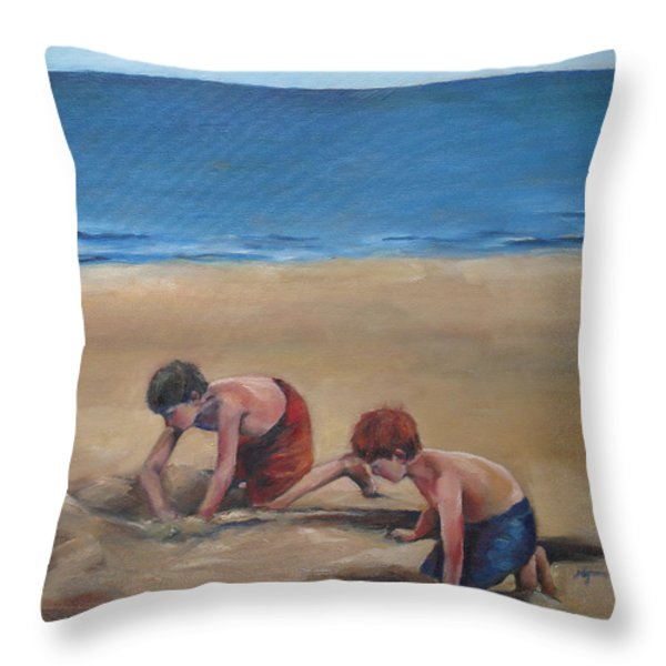 Pass Christian Brothers Throw Pillow by Julie Dalton Gourgues