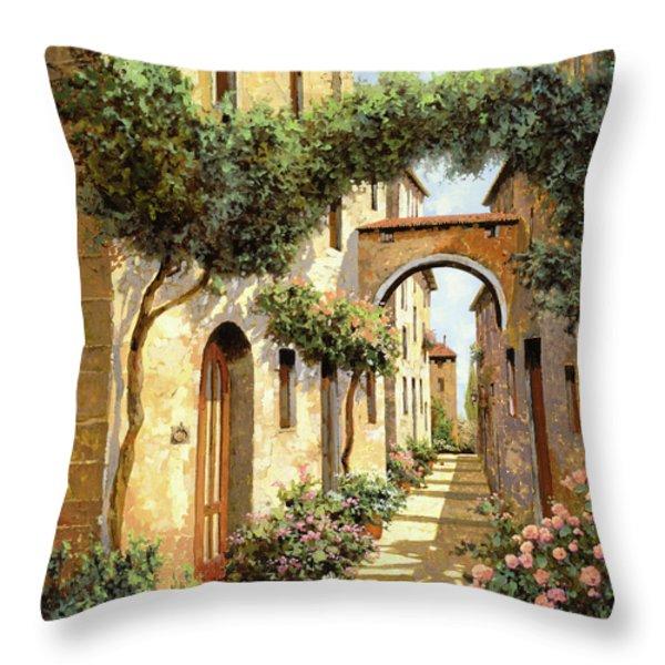 passando sotto l'arco Throw Pillow by Guido Borelli