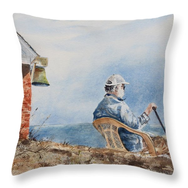 Passing Time Throw Pillow by Monte Toon