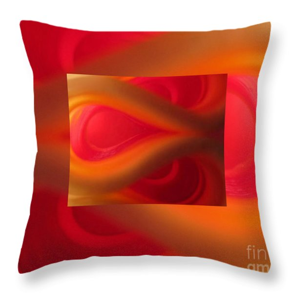 Passion Abstract 02 Throw Pillow by Ausra Paulauskaite