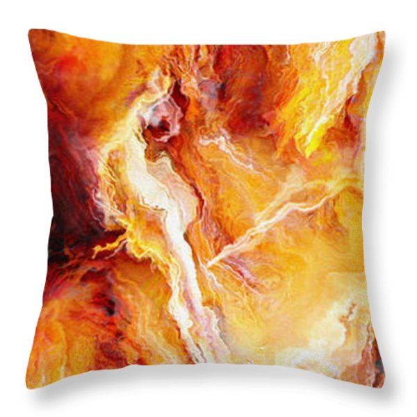 Passion - Abstract Art Throw Pillow by Jaison Cianelli