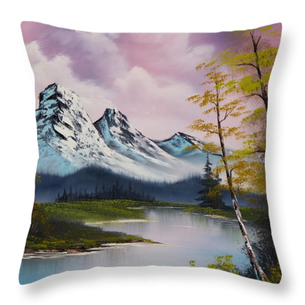 Pastel Fall Throw Pillow by C Steele
