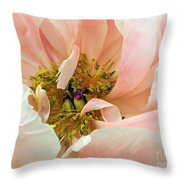 Pastel Floral Throw Pillow by Kaye Menner