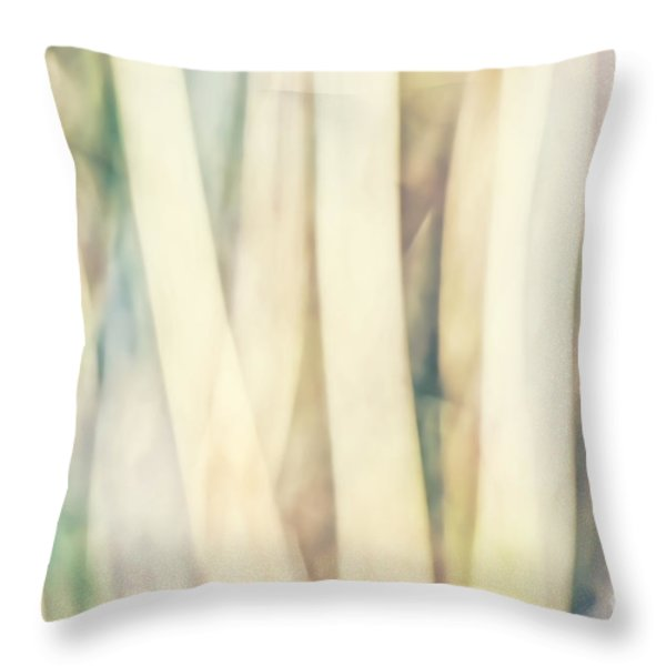 Pastel Forest Wild Grasses Photographic Abstract Throw Pillow by Natalie Kinnear