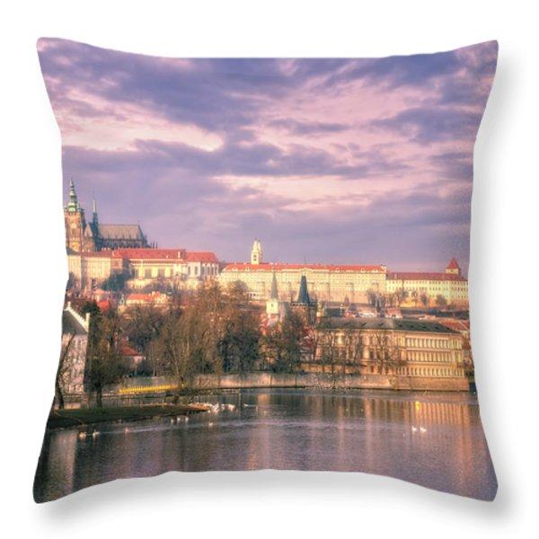 Pastel Prague Morning Throw Pillow by Joan Carroll