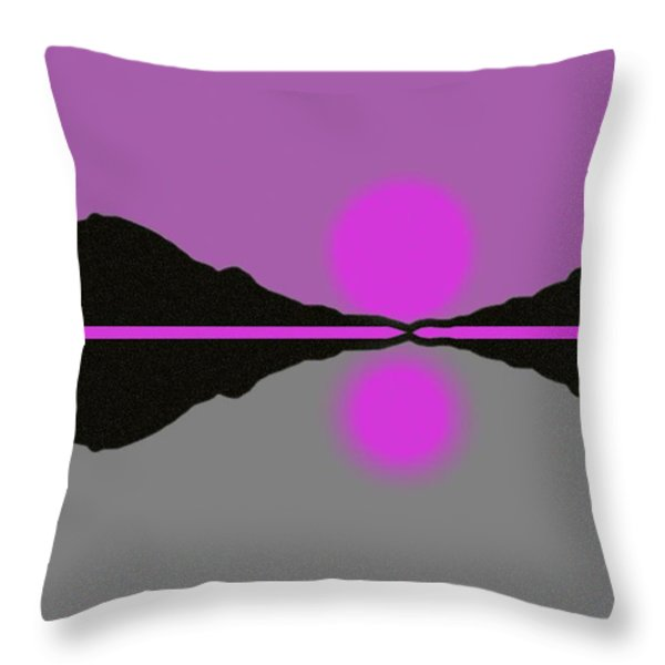 Pastel Sunrise Throw Pillow by George Pedro