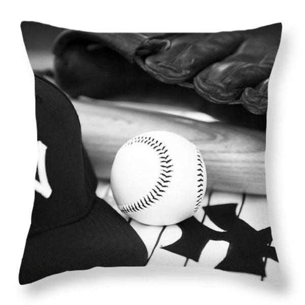 Pastime Essentials Throw Pillow by John Rizzuto