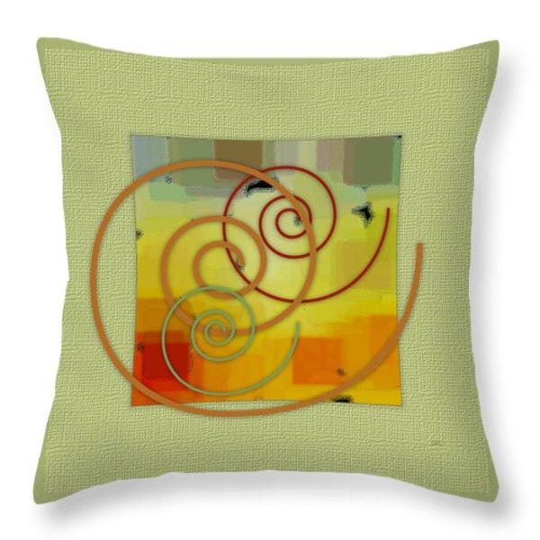 Patchwork I Throw Pillow by Ben and Raisa Gertsberg