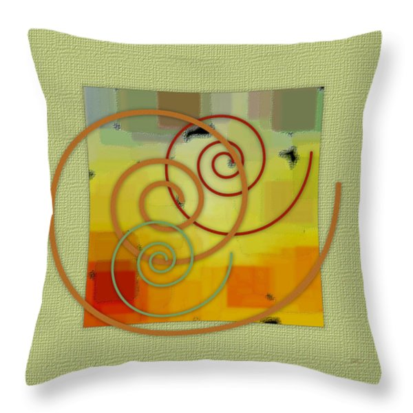 Patchwork I Throw Pillow by Ben and Raisa Gertsberg