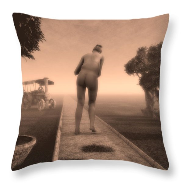 Path In Life Throw Pillow by Bob Orsillo