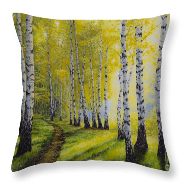 Path To Autumn Throw Pillow by Veikko Suikkanen