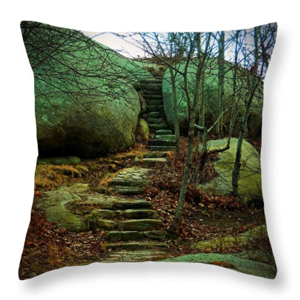 Path to Munchkinville Throw Pillow by Marcia Lee Jones