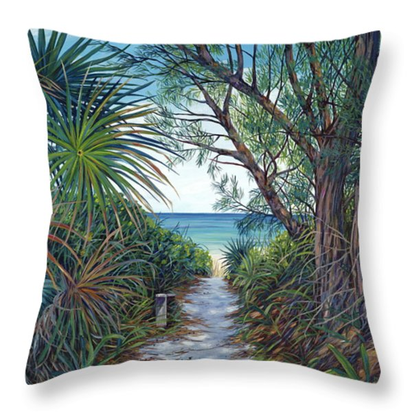 Path To Serenity Throw Pillow by Danielle  Perry