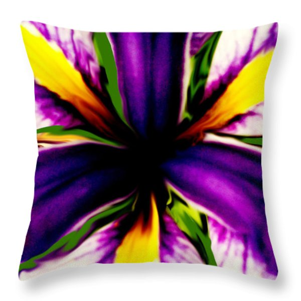 Patricia Bunk's Iris  Throw Pillow by Patricia Bunk