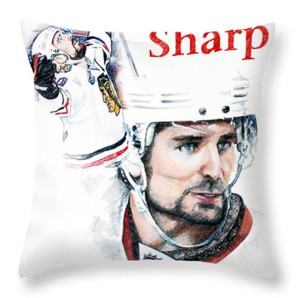 Patrick Sharp - The Cup Run Throw Pillow by Jerry Tibstra
