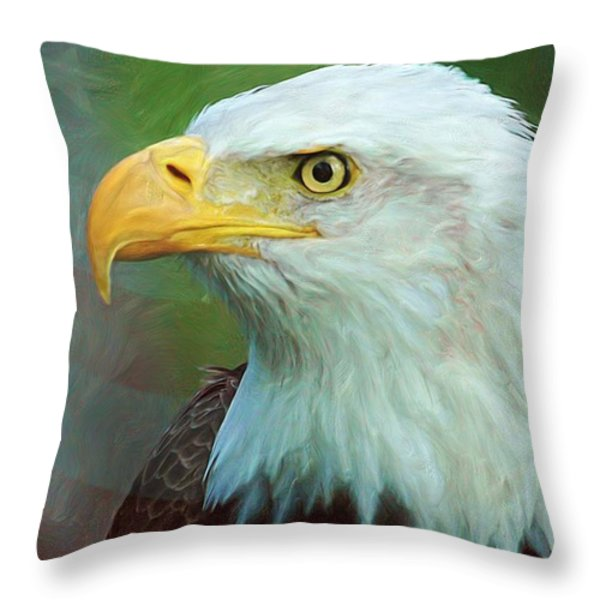 Patriot Throw Pillow by Heidi Smith