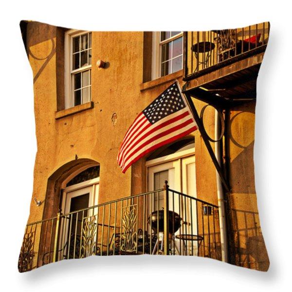 Patriotic Throw Pillow by M J Glisson