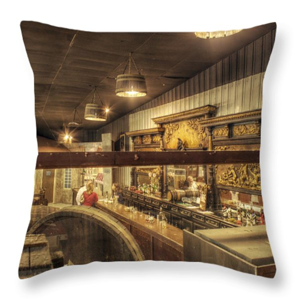 Patrons Of The Tasting Bar Throw Pillow by Jason Politte