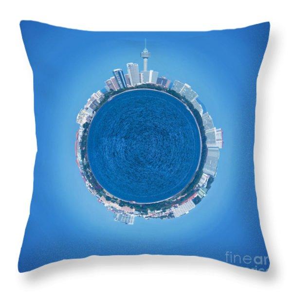 Pattaya World Throw Pillow by ATIKETTA SANGASAENG