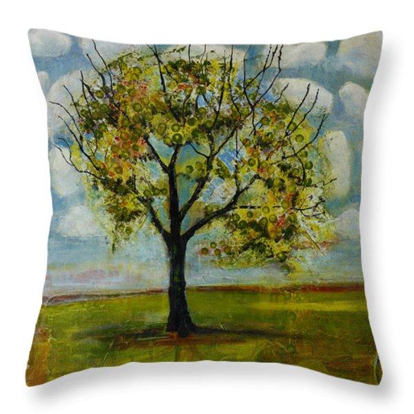 Patterned Sky Throw Pillow by Blenda Studio