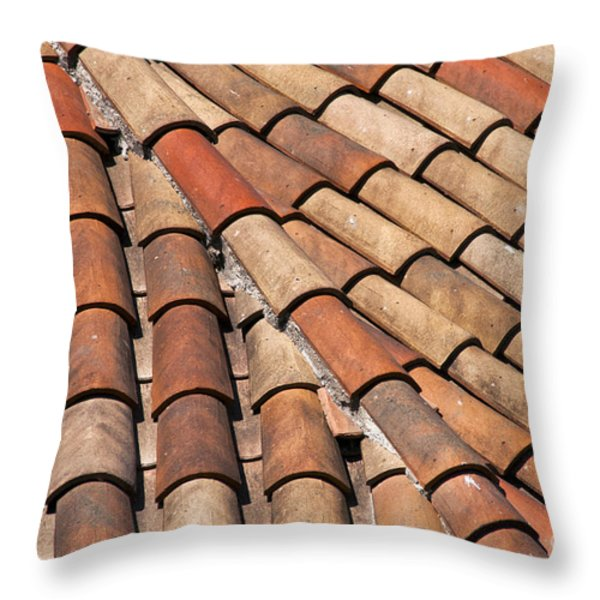 Patterned Tiles Throw Pillow by Bob Phillips