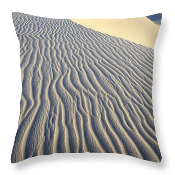 Patterns In The Sand Brazil Throw Pillow by Bob Christopher