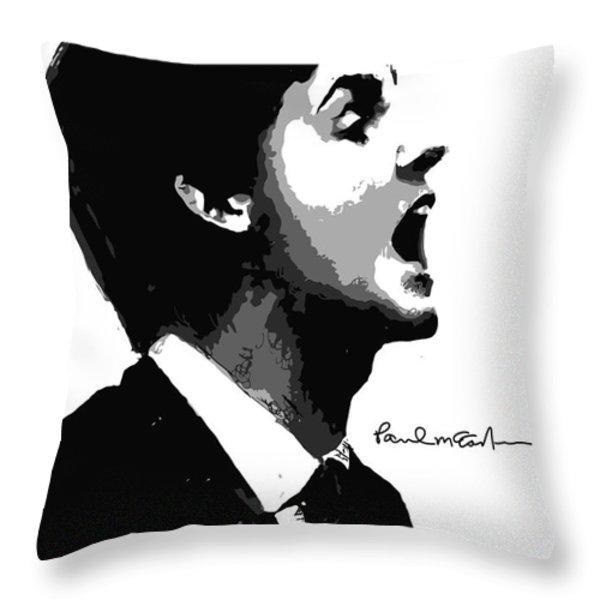 Paul McCartney No.01 Throw Pillow by Caio Caldas