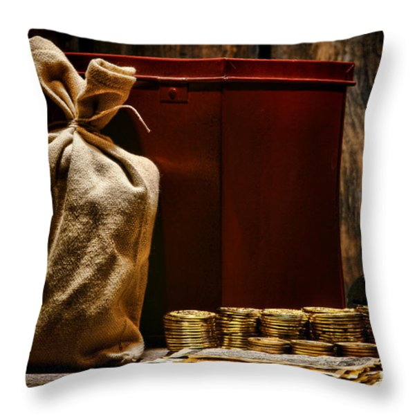 Pay Day Throw Pillow by Olivier Le Queinec