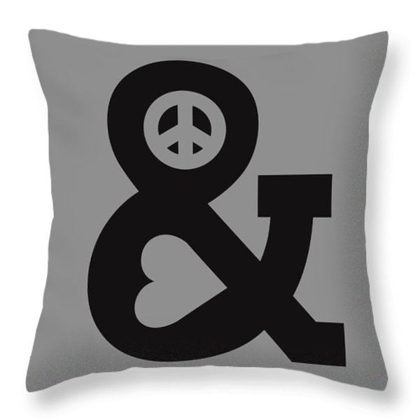 Peace And Love Throw Pillow by Budi Satria Kwan