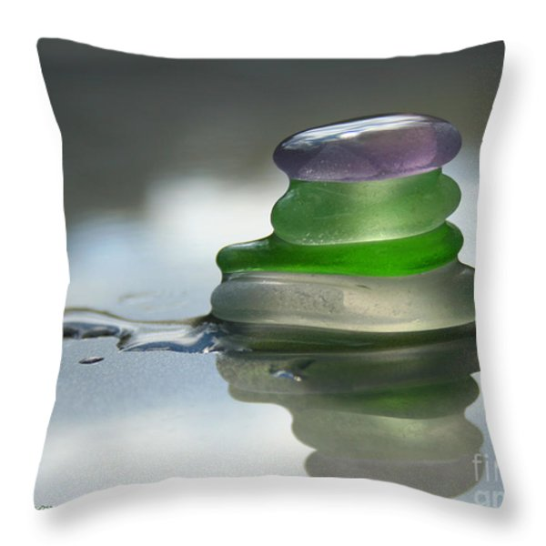 Peace Throw Pillow by Barbara McMahon