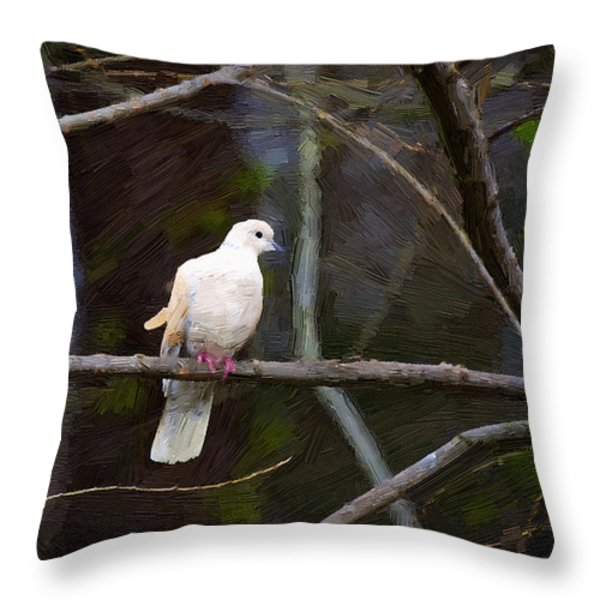 Peace Be With You Throw Pillow by Cris Hayes
