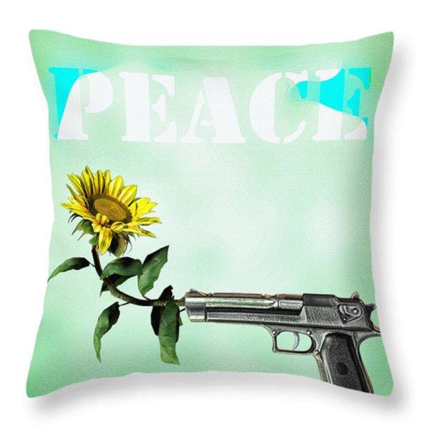 Peace Throw Pillow by Bob Orsillo