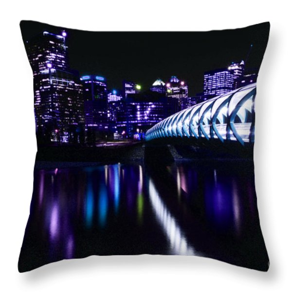 Peace Bridge Feeling The Blues Throw Pillow by Bob Christopher