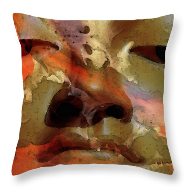 Peace Buddha - Spiritual Art Throw Pillow by Sharon Cummings