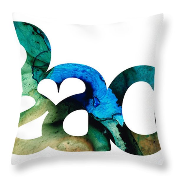 Peace Full 13 Throw Pillow by Sharon Cummings