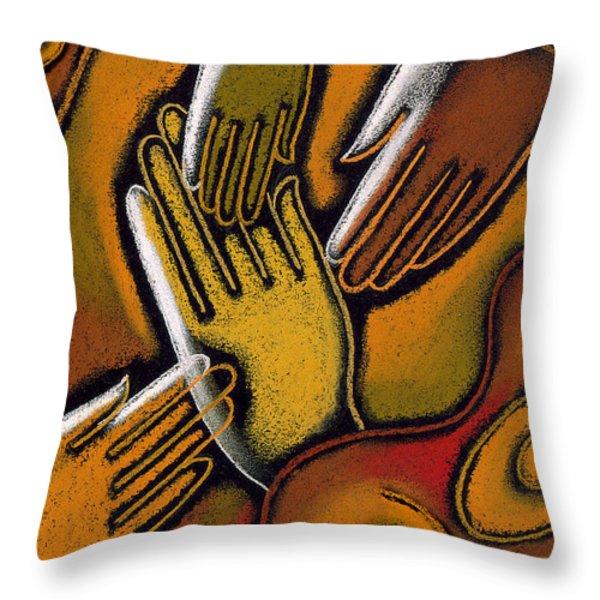 Peace Throw Pillow by Leon Zernitsky