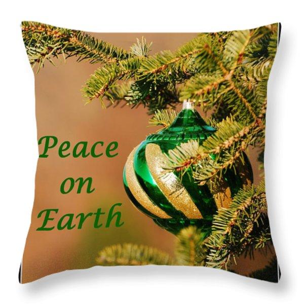 Peace On Earth Throw Pillow by Francie Davis