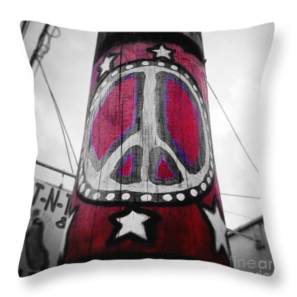 Peace Pole Throw Pillow by Scott Pellegrin