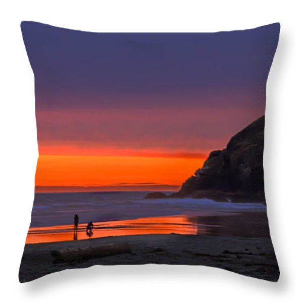 Peaceful Evening Throw Pillow by Robert Bales